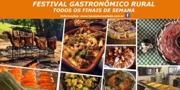 Todos os Finais de Semana tem Festival Gastronômico Rural!